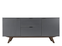 Aveiro Sideboard, Dark Stain Oak and Grey