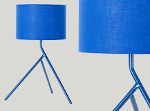 Axel Tripod Table Lamp, Blue