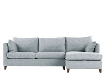 Bari Right Hand Facing Corner Storage Sofa Bed, Malva Blue Grey