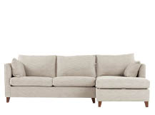 Bari Right Hand Facing Corner Storage Sofa Bed, Malva Linen