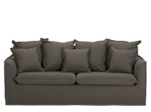 Belleville 3 Seater Sofa, Ash Grey
