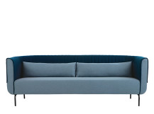 Bienno 3 seater sofa, Pigeon Blue and Petrol Teal