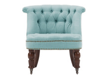 Bouji Chair, Teira Blue and Vintage Brown