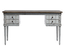 Bourbon Vintage Desk, Distressed Grey