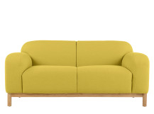 Brady 2 seater sofa, Mustard Yellow