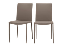 2 x Braga Dining Chairs, Clay