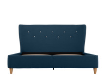 Burcot King Size Bed, Blue With Contrast Piping