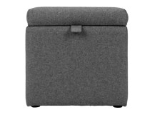 Capri Upholstered Storage Box, Etna Grey