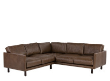 Carey Corner Sofa, Saddle Tan Premium Leather