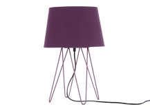 Collins Table Lamp, Aubergine