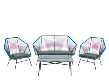 Copa Outdoor Lounge Set, Spectrum Pink