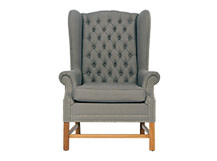 Manor Wing Back Chair, Graphite Grey