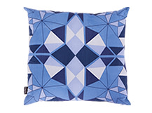 Crystal Square Scatter Cushion 45 x 45cm, Sapphire Blue