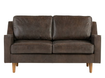 Dallas 2 Seater Sofa, Oxford Brown Premium Leather