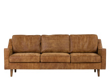 Dallas 3 Seater Sofa, Outback Tan Premium Leather
