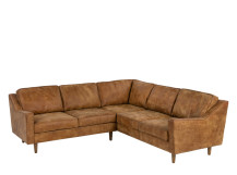 Dallas Corner Sofa, Outback Tan Premium Leather
