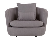 Demi Love Seat, Lunar Grey