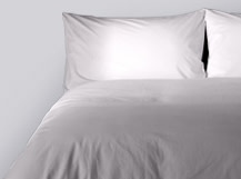 Dipped 200TC Egyptian Cotton Bed Set, Elephant Grey