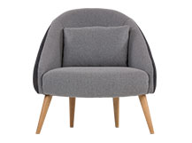 Ezra Chair, Kestrel and Whisper Grey Wool Mix