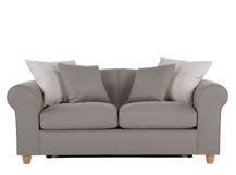 Fia 2 Seater Sofa Bed with Scatter Cushions, Dawn Grey