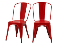 2 x Legend Café Chairs, Red