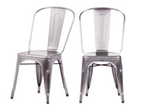 2 x Legend Café Chairs, Galvanized