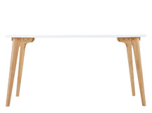 Fjord Rectangle Dining Table, Oak and White