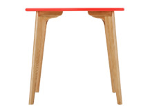 Fjord Compact Dining Table, Oak and Blood Orange