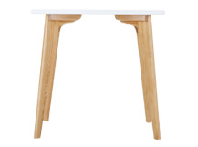 Fjord Compact Dining Table, Oak and White
