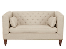 Flynn 2 Seater Sofa, Biscuit Beige