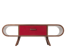 Fonteyn Coffee Table, Walnut and Red