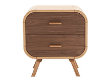 Fonteyn Bedside Table, Oak and Walnut