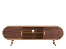 Fonteyn Media Unit, Oak and Walnut