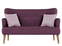 Gigi 3 Seater with Scatters, Aubergine