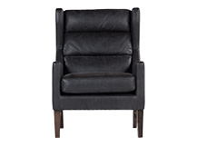 Gotham Chair, Black Premium Leather