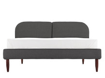 Hattan Kingsize Bed, Falcon Grey