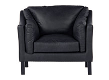 Hendrix Armchair, Black Premium Leather