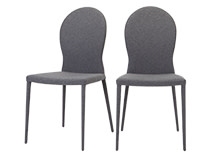 2 x Herzog Dining Chairs, Light Grey