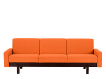 Hoye 3 Seater Sofa, Sunset Orange Cotton Mix