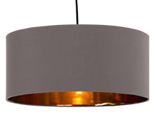 Hue Pendant Shade, Grey & Copper