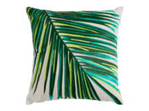 Jangala embroidered cushion 40 x 40cm, Leaf Green