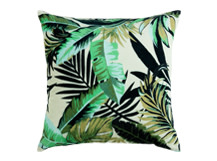 Jangala Velvet Cushion 50 x 50cm, Leaf Green