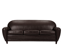 Jazz Club 3 Seater Sofa, Chocolate