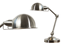 Jenkins Table Lamp, Satin Nickel