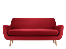 Jonah 2 Seater Sofa, Berry Red