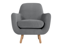 Jonah Armchair, Pebble Velvet