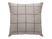 Juno Large Square Scatter Cushion 50 x 50cm, Heather Check