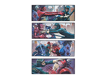4 x Kick-Ass 2 Montage, 60 x 24cm, Limited Edition
