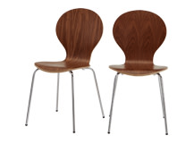 2 x Kitsch Dining Chairs, Walnut