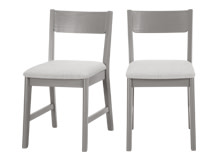 2 x Kleur Dining Chairs, Pine and Grey
